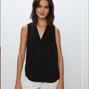 Babaton Aritzia sleeveless power blouse